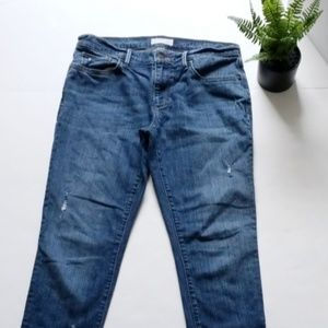 Loft relaxed skinny distressed jeans